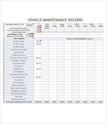 Vehicle Maintenance Log 7 Free Pdf Excel Documents