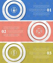 Simple Info Graphics Simple Infographics Banners Vector Illustration Of Design Elements