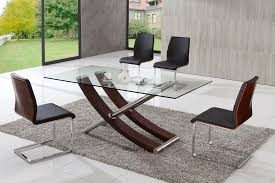 modern glass dining room sets. Lovely Contemporary Glass Dining Table Modern Wildwoodsta Vczyexx Room Sets N