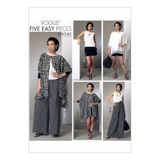 Wrap Pants Pattern Custom Vogue Pattern V48 Ponchos BackPleat Top Shorts Wrap Pants