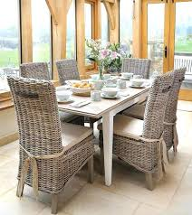 rattan dining chairs glamorous rattan dining room table and chairs on gray dining room set with