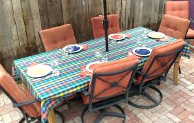 48 inch round outdoor tablecloth table cloth idea round vinyl tablecloth with umbrella hole of 48