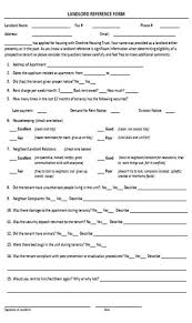 Reference Verification Form Landlord Verification Form 10 Free Documents Useful For Landlord