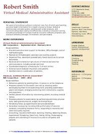 Virtual Resumes Medical Administrative Assistant Resume Samples Qwikresume