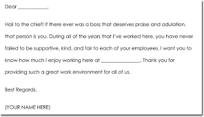 Boss Thank You Note Samples Wording Ideas
