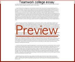 teamwork college essay research paper help teamwork college essay