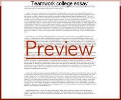 teamwork college essay research paper help teamwork college essay