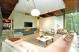 decorate living room with fireplace. Modern Fireplace Living Room With Sandstone Floors And Globe Light Fixture Design Corner Decorate E