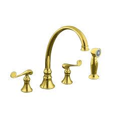 Kohler Brass Kitchen Faucet Kohler Revival 2 Handle Standard Kitchen Faucet In Vibrant