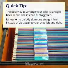 how to arrange an office. Quick Tip: The Best Way To Arrange Your Tabs Is Actually Straight Back In One Line Instead Of Staggered. You\u0027ll Find It Easier Quickly Skim How An Office