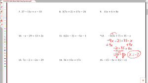 3 6a solving multi step equations