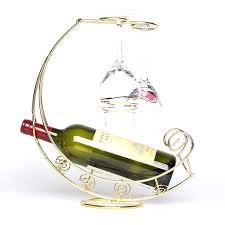 hanging wine rack fashion metal wine rack hanging wine glass bottle holder pirate ship shape bar wine holder 2 hanging wine glass racks for