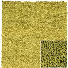 N Strata Wool Shag Rug In Lime Green