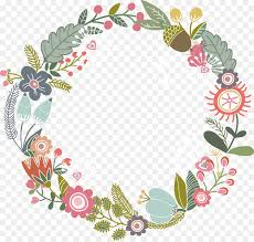 Paper With Flower Border Flower Background Ribbon Png Download 986 937 Free