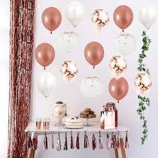 Balloon Designs For Bridal Shower Amazon Com Rose Gold Bridal Shower Decoration Kit