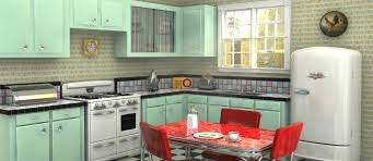 how to create a retro kitchen feature