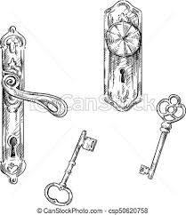 door handles and keys retro style csp50620758