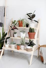 diy ladder plant stand plant stand ideas inside