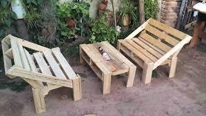 wooden pallet garden furniture. Wooden Pallet Garden Table Patio Furniture Set Ideas .