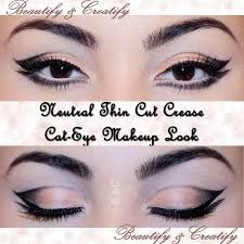 winged eyeliner with neutral makeup winged eyeliner