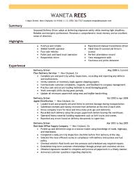 Transportation Resume Examples Delivery Driver Resume Sample Driver Resumes Livecareer With Skill