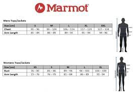 Marmot Minimalist Size Chart Marmot Size Guide 2019