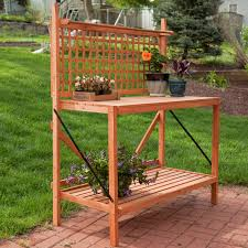 Potting Table Coral Coast Fir Wood Foldable Potting Bench Potting Benches At