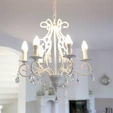 Details Zu Kronleuchter Southhampton Weiß Mit Kristallen Landhausstil Modern Long Island