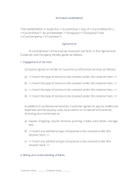 Sample Retainer Agreement Retainer Agreement 21