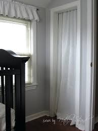 Curtain Closet Door Ideas Nursery Projects Crib Skirt And Closet