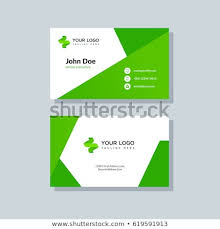 Green Card Template Modern Green Business Card Template Flat Stock Vector Royalty Free