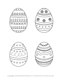 Easter Egg Template The Best Ideas For Kids