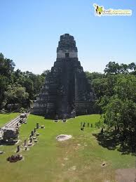 photos of tikal national park  grand jaguar temple tikal