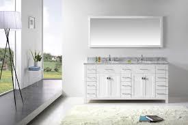 White Bathroom Vanity Cabinet Virtu Usa Caroline Parkway 72 Bathroom Vanity Cabinet In White