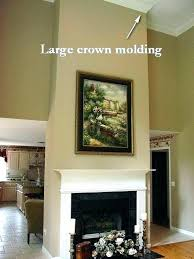 make a mantle out of crown molding fireplace great room moldings mantel moulding diy