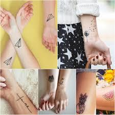 маленькие татуировки для девушек на руке запястье пальце спине