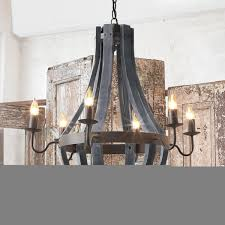 wood light chandelier wooden wine barrel stave chandelier ideas
