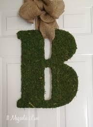 front door lettersDIY Moss Covered Letter Tutorial  11 Magnolia Lane