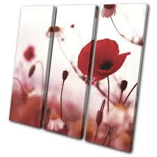 dom i meble set of 3 part red canvas