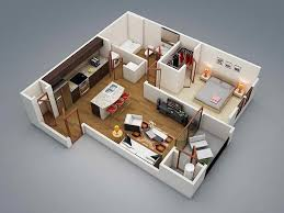 One Bedroom Apartment Plans And Designs