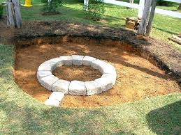 build inground fire pit fire pit designs building fire pit design your own in ground do