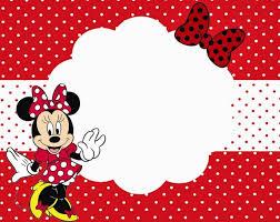 Minnie Mouse Blank Invitation Template Free Printable Minnie Mouse Birthday Invitation Templates Minnie