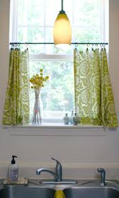 Kitchen Cafe Curtains Cute Diy Cafe Curtains