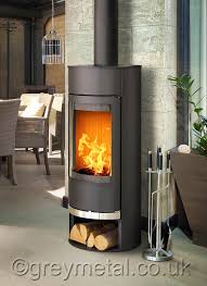 Vigo round black 6kw contemporary curved wood burning stove | Wood ...