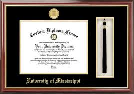 university of mississippi ole miss rebels diploma frame mississippi ole miss rebels ncaa tassel box and diploma frame
