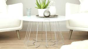 round chrome coffee table modern white glass legs canada