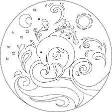 Kleurplaat Dolfijn Mandala Premium Clipart Clipartlogocom