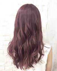 髪色2018春夏人気ヘアカラーは何色暗めピンクアッシュ