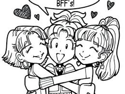 Bff Coloring Pages Dork Diaries Beautiful Idea And