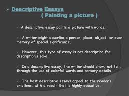 final essays and types of essays personal statement 20 iuml131152 descriptive essays painting